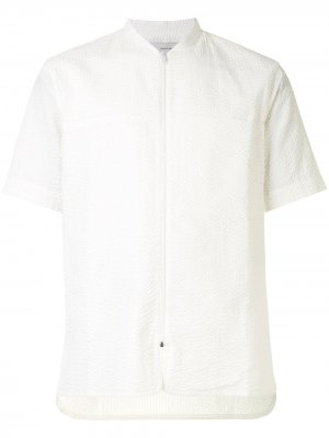 Рубашка с воротником-стойкой Cerruti 1881. Цвет: белый