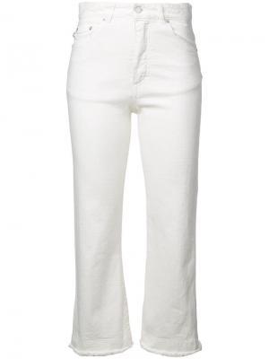 Укороченные джинсы с завышенной талией Fiorucci. Цвет: белый