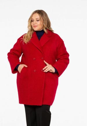 Пальто Intikoma. Цвет: красный