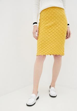 Юбка Passioni. Цвет: желтый