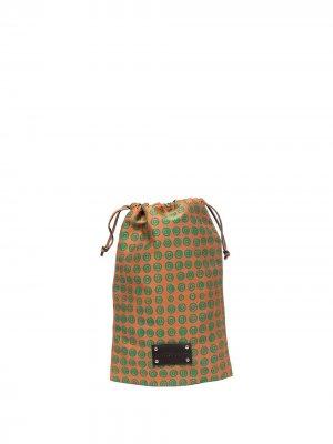 Маленькая дорожная сумка с монограммой 10 CORSO COMO. Цвет: оранжевый