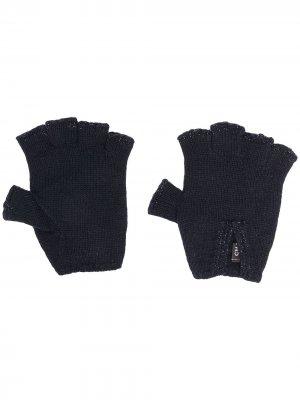 Трикотажные перчатки-митенки Chanel Pre-Owned. Цвет: синий