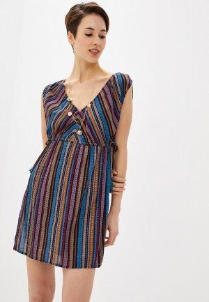 Платье пляжное Marks & Spencer. Цвет: разноцветный