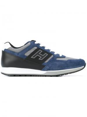 Кроссовки со шнуровкой и логотипом Hogan. Цвет: синий