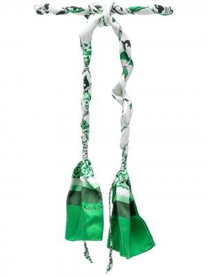 Пояс с завязками Ermanno Scervino. Цвет: зеленый