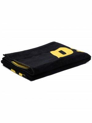 Пляжное полотенце с логотипом Dsquared2. Цвет: черный