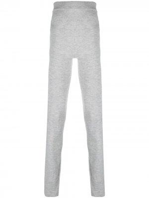 Трикотажные легинсы с завышенной талией extreme cashmere. Цвет: серый