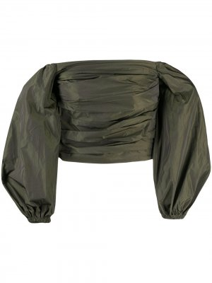 Топ Jesy с пышными рукавами Stine Goya. Цвет: зеленый