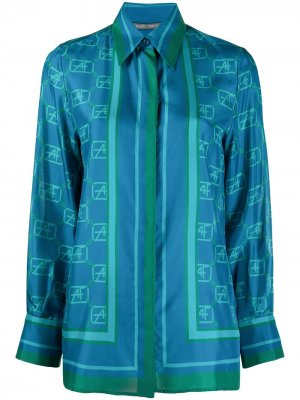 Рубашка с принтом Alberta Ferretti. Цвет: синий