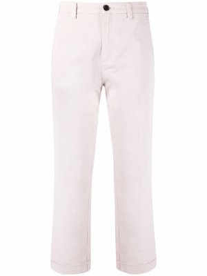 Укороченные брюки прямого кроя Department 5. Цвет: розовый