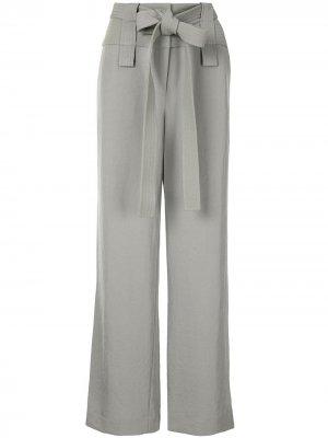Широкие брюки с завышенной талией Dion Lee. Цвет: зеленый
