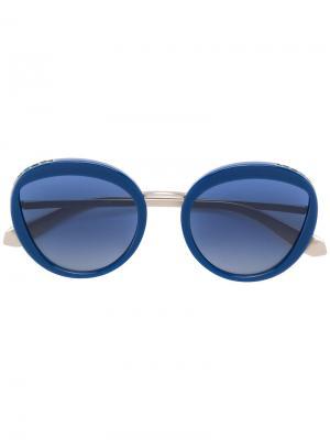 Массивные солнцезащитные очки Bulgari. Цвет: металлик