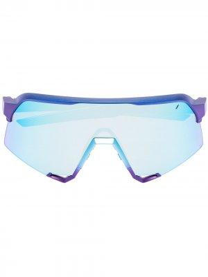 Спортивные солнцезащитные очки S3 100% Eyewear. Цвет: синий