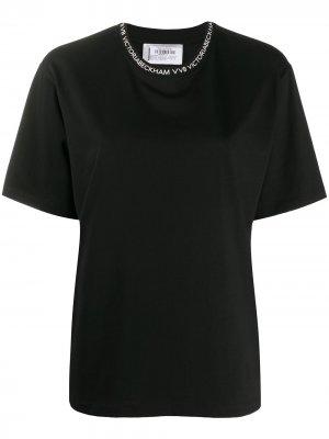 Футболка с круглым вырезом и логотипом Victoria Beckham. Цвет: черный