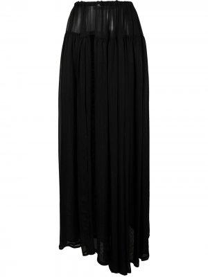 Полупрозрачная юбка макси Ann Demeulemeester. Цвет: черный