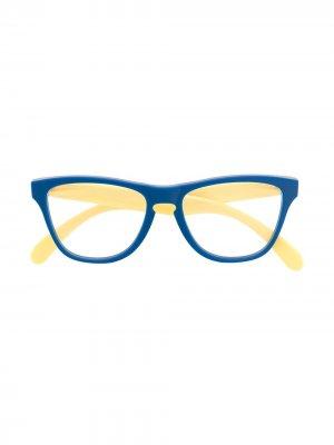 Солнцезащитные очки Frogskins XS в квадратной оправе Oakley. Цвет: синий