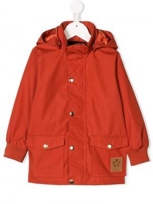Hooded raincoat Mini Rodini. Цвет: красный