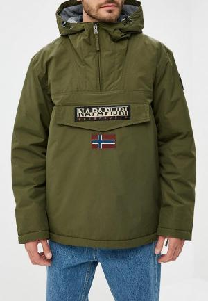 Куртка утепленная Napapijri. Цвет: хаки