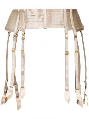 Регулируемый пояс Art Deco Bordelle. Цвет: телесный
