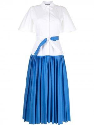 Двухцветное платье-рубашка Alexis. Цвет: синий