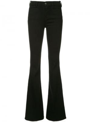 Классические расклешенные брюки Mih Jeans. Цвет: черный