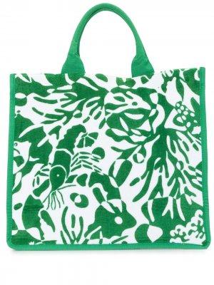 Пляжная сумка с принтом Eres. Цвет: зеленый