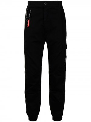 Спортивные брюки с логотипом izzue. Цвет: черный