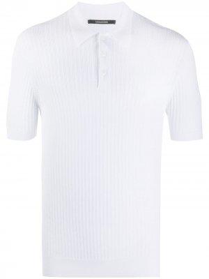 Рубашка поло в рубчик Tagliatore. Цвет: белый