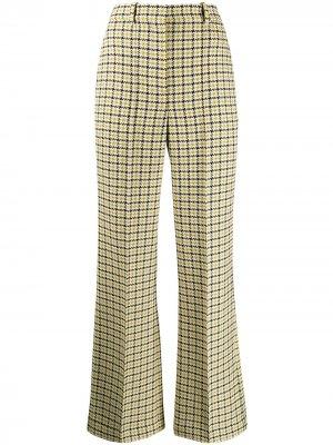 Расклешенные брюки с завышенной талией Victoria Beckham. Цвет: желтый