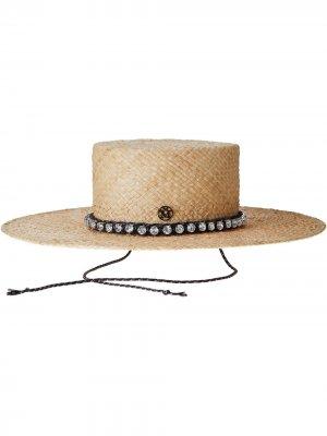 Декорированная шляпа-федора Lana Maison Michel. Цвет: нейтральные цвета