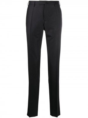 Строгие брюки кроя слим Incotex. Цвет: серый