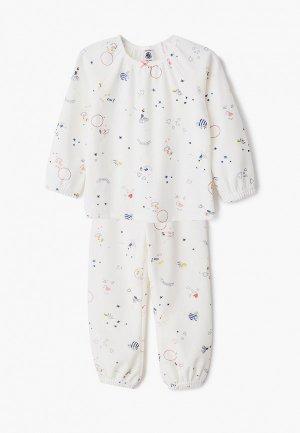 Пижама Petit Bateau. Цвет: белый