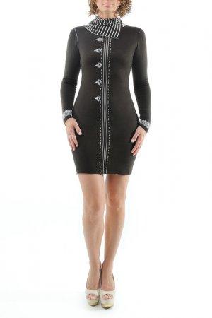 Платье MONO collection. Цвет: коричневый