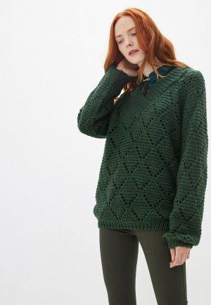 Пуловер BlendShe. Цвет: зеленый