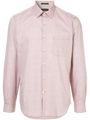 Durban рубашка в мелкую клетку D'urban. Цвет: красный
