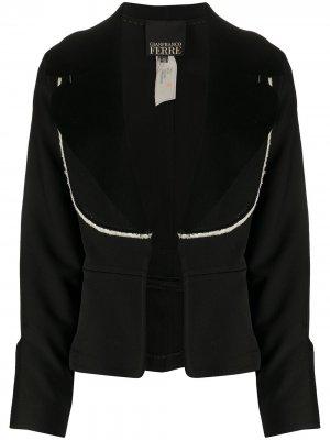 Приталенный пиджак 2000-х годов Gianfranco Ferré Pre-Owned. Цвет: черный