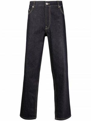 Прямые джинсы средней посадки Maison Kitsuné. Цвет: синий