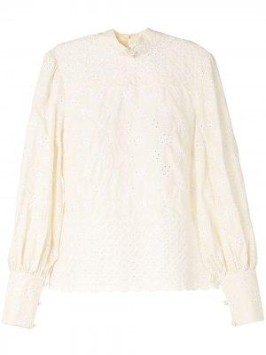 Блузка Angels с воротником-стойкой Alice McCall. Цвет: нейтральные цвета