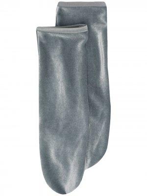 Бархатные носки Simone Wild. Цвет: серый