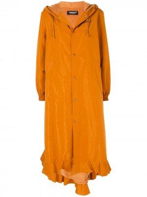 Пальто оверсайз с принтом UNDERCOVER. Цвет: оранжевый
