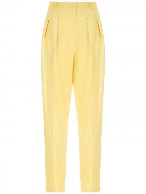 Брюки прямого кроя с боковыми карманами Nk. Цвет: желтый