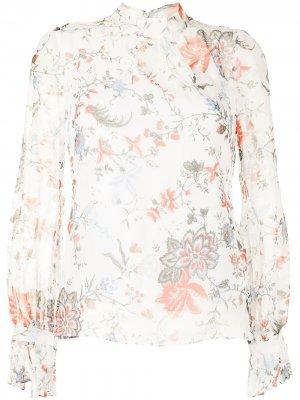 Блузка с цветочным принтом Erdem. Цвет: белый