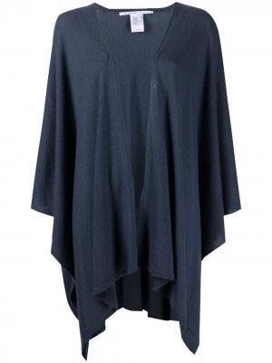 Кардиган-пальто Weste тонкой вязки Agnona. Цвет: синий