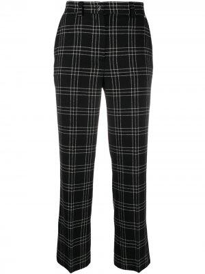 Укороченные брюки в клетку Twin-Set. Цвет: черный