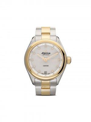 Наручные часы Comtesse 34 мм Alpina. Цвет: белый