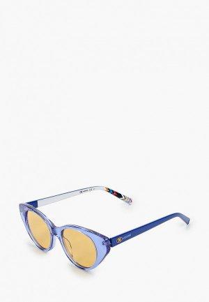 Очки солнцезащитные M Missoni. Цвет: синий