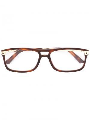 Очки Santos Cartier. Цвет: коричневый
