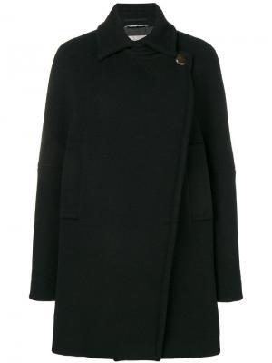 Двубортное пальто свободного кроя Sportmax. Цвет: черный