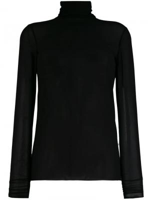 Блузка с высоким воротом Nude. Цвет: черный
