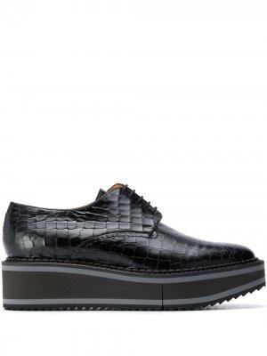 Туфли Brook на шнуровке Clergerie. Цвет: черный